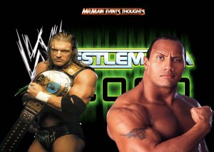 The Rock vs Triple H